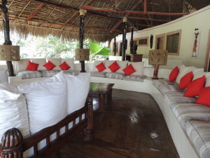 4 bedrooms villa for sale in Malindi all en-suite, Verandah with a large sitting area